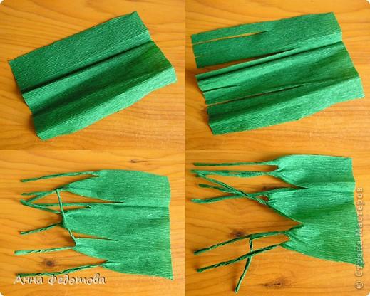 Из модулей 1/32 А4 (5,25х3,7 см) цветочки получаются большие, диаметром по 11 см. Для каждого цветочка нужно 120 модулей. Для вазочки – 474 модуля. МК треугольного модуля: http://stranamasterov.ru/technic/origami_module?tid=451 фото 9