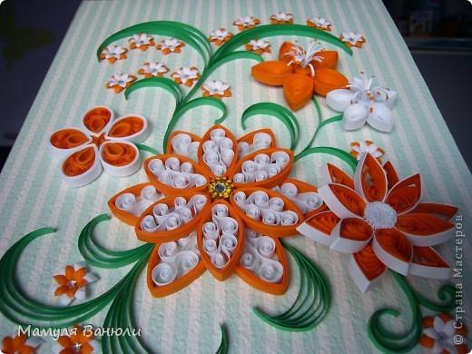 Всем добрый день! Давно я уже обещала сделать эту картинку в оранжевом цвете своим друзьям для их новой оранжевой кухни. Но в последнее время увлеклась холодным фарфором и все никак не могла собрать ее. А тут такой замечательный повод- день рождения! фото 7