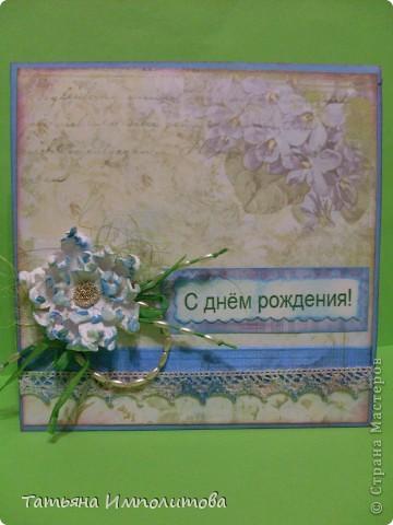 Свадебную открытку делала в первый раз,купила в магазине красивые розы и решила попробовать,хотя мне кажется,что для этой открытки розы великоваты фото 4