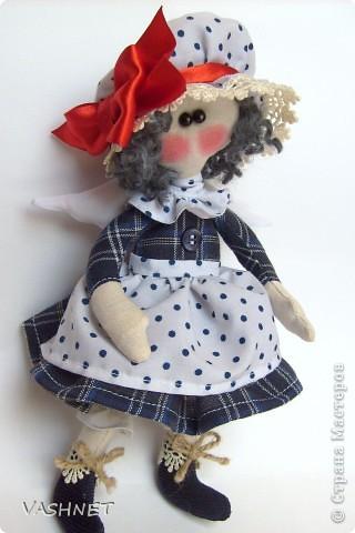 Прошу любить - Бетти! Она появилась вдогонку Луше - первенцу моей серии Ангелушек (название куколки произошло от ее  имении). а что это уже серия - стало понятно при первом взмахе ножниц!... Столько идей!...  фото 2