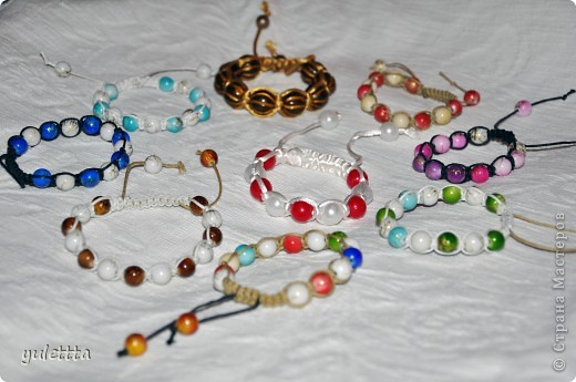 Мои браслеты-шамбала фото 2
