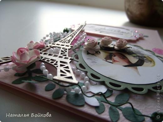 Наступила весна  - время цветения и дней рождения.  Эти события и вдохновили меня на создание  этой открытки. Эта открытка   в подарок моей  подруге и куме ( одновременно), надеюсь ей понравится... фото 3