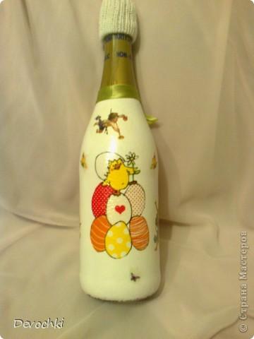 Все подарки давно раздарены, вот наконец то появилось время разместить фотки) Пасхальная бутылочка для взрослых спасибо IRINA-BIRB за салфетку) фото 4