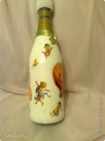 Все подарки давно раздарены, вот наконец то появилось время разместить фотки) Пасхальная бутылочка для взрослых спасибо IRINA-BIRB за салфетку) фото 5