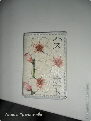 Немного скрапбукинга.Обложка для паспорта фото 2