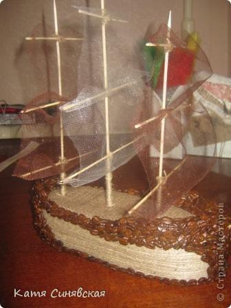 Вот такой корабль сделала папе мужа на день рождения! На этом фото он без одного флажка(забыла приклеить) фото 14