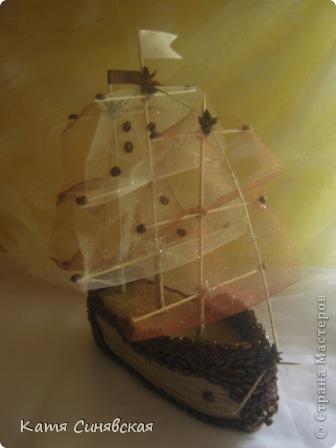 Вот такой корабль сделала папе мужа на день рождения! На этом фото он без одного флажка(забыла приклеить) фото 15