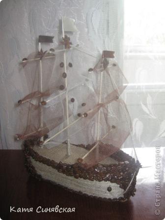 Вот такой корабль сделала папе мужа на день рождения! На этом фото он без одного флажка(забыла приклеить) фото 3