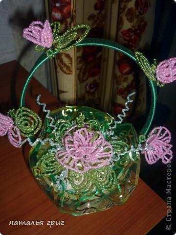 корзина с розами.подарок для подруги. фото 2