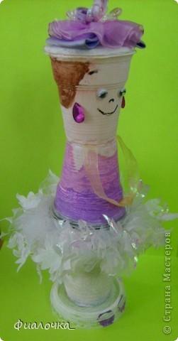 Всем здравствуйте! Хочу показать вам балеринку, которую я сделала из одноразовых пластиковых стаканчиков! фото 6