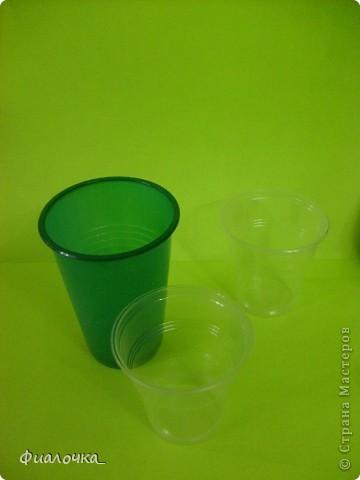 Всем здравствуйте! Хочу показать вам балеринку, которую я сделала из одноразовых пластиковых стаканчиков! фото 2