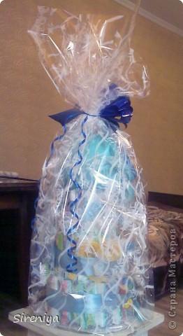 """Вот такой тортик """"испекся"""" для новорожденного мальчика)) фото 5"""