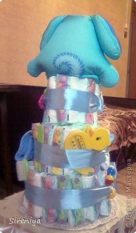 """Вот такой тортик """"испекся"""" для новорожденного мальчика)) фото 3"""