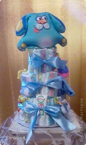 """Вот такой тортик """"испекся"""" для новорожденного мальчика)) фото 2"""