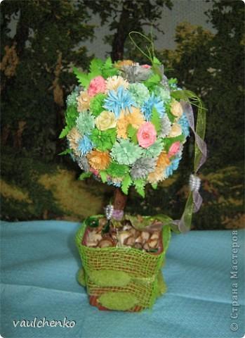 УРА!!! Май цветет и празднует! Всех поздравляю с самым нежно-сиренево-ландышевым зелено-праздничным МАЕМ!!! вот и у меня получилось такое майское деревце - цветущее и радостное! фото 1