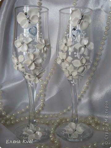 """Свадебные бокалы """"Бабочки"""" фото 1"""