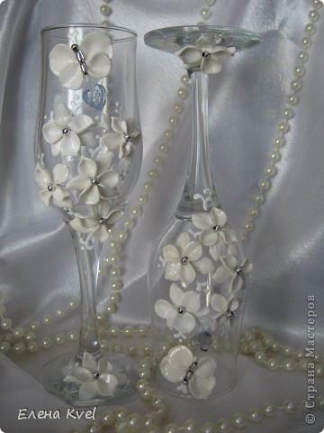 """Свадебные бокалы """"Бабочки"""" фото 2"""
