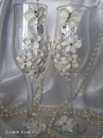"""Свадебные бокалы """"Бабочки"""" фото 3"""