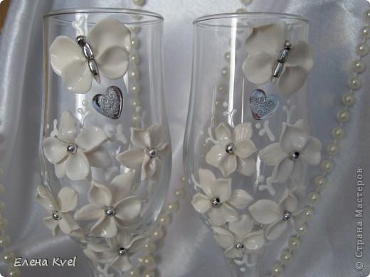 """Свадебные бокалы """"Бабочки"""" фото 4"""