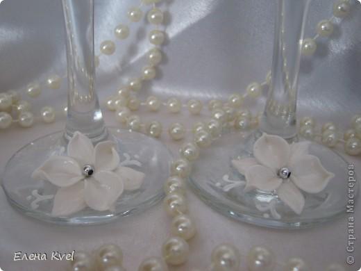 """Свадебные бокалы """"Бабочки"""" фото 5"""
