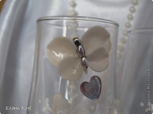 """Свадебные бокалы """"Бабочки"""" фото 6"""