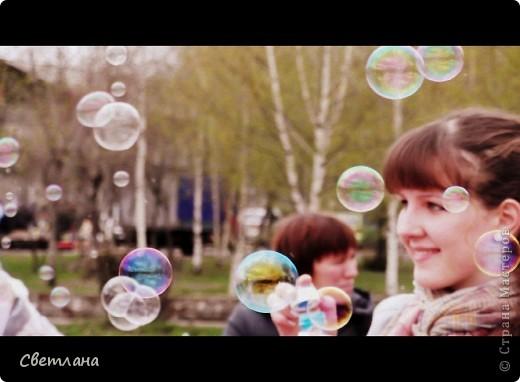 """1 мая у нас в поселке состоялся  праздник """"мыльных пузырей"""". Было очень весело и красиво :)  фото 1"""