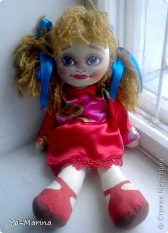 """Весняночкой эту куклу назвал один посетитель моей мастерской. Когда я его спросила """"Почему """"Весняночка""""?, он ответил, что она по весеннему яркая и веснушчатая! фото 2"""