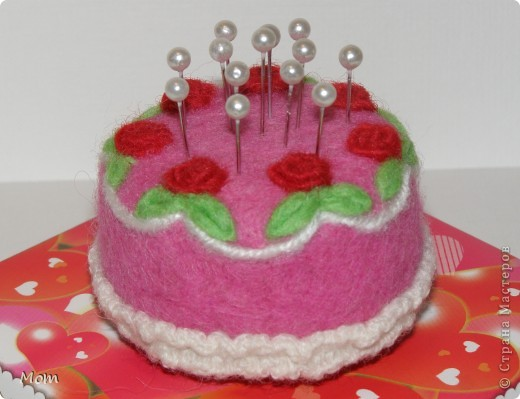 """Этот тортик я """"испекла"""" ко дню рождения моей доченьки. Она у меня рукодельница, к тому же следит за своей фигурой.  фото 2"""