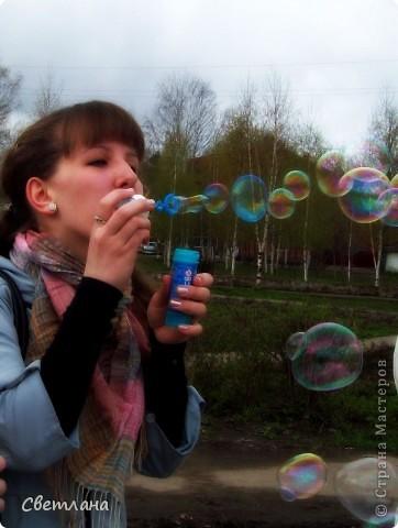 """1 мая у нас в поселке состоялся  праздник """"мыльных пузырей"""". Было очень весело и красиво :)  фото 3"""