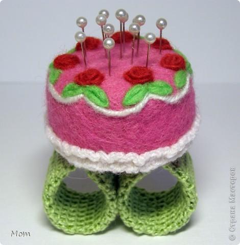 """Этот тортик я """"испекла"""" ко дню рождения моей доченьки. Она у меня рукодельница, к тому же следит за своей фигурой.  фото 6"""