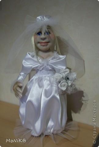 Всем привет ! Вот такая получилась у меня невеста. Надеюсь заказчики останутся довольны . Жених ещё в процессе работы )) фото 1