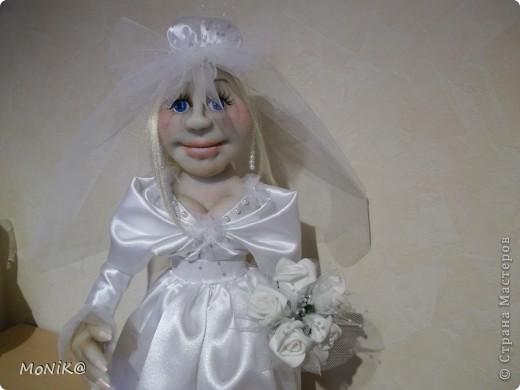 Всем привет ! Вот такая получилась у меня невеста. Надеюсь заказчики останутся довольны . Жених ещё в процессе работы )) фото 3