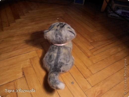 Котеночек Тимошка 26 см Сидит на полу Мурлыкает) фото 4