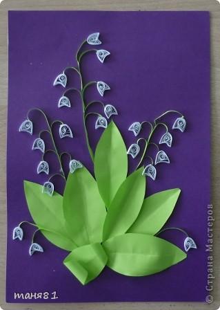 Вот такие весенние цветы у нас появились на последних занятиях. Ландыши. фото 1