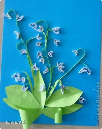 Вот такие весенние цветы у нас появились на последних занятиях. Ландыши. фото 3