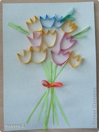 Вот такие весенние цветы у нас появились на последних занятиях. Ландыши. фото 4