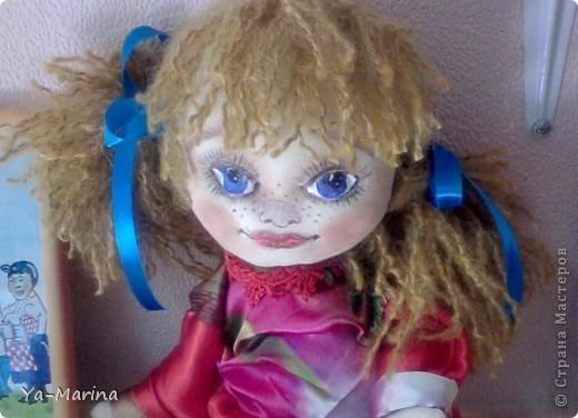"""Весняночкой эту куклу назвал один посетитель моей мастерской. Когда я его спросила """"Почему """"Весняночка""""?, он ответил, что она по весеннему яркая и веснушчатая! фото 1"""