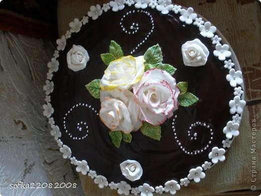 Тортик на день рождения для мамы.Вес маленький - 4 кг. фото 1