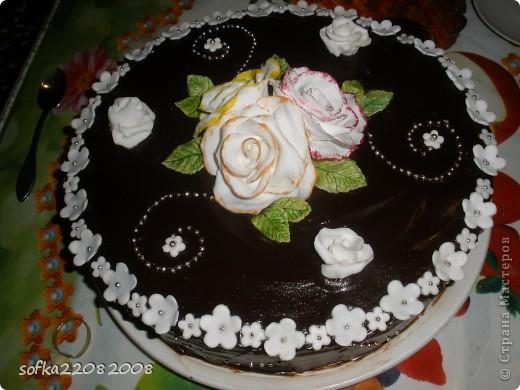 Тортик на день рождения для мамы.Вес маленький - 4 кг. фото 2