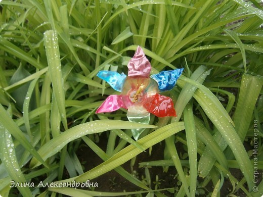 Вот такой цветочек растет у нас во дворе)))Делать было нечего вот и придумала сделать такой цветочек) фото 3