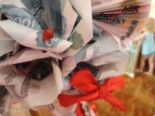 Приветствую Всех мастеров и мастериц Страны Мастеров!!!  Очень надеюсь на дружбу с Вами, и открываю свой блог денежным деревом!!!  Долго думала, что же подарить маме на день рождения и решила, что ей очень хочется заиметь у себя дома такое дерево. Дерево сделано по МК http://stranamasterov.ru/node/299972, Спасибо огромнейшее! Принимайте! фото 4