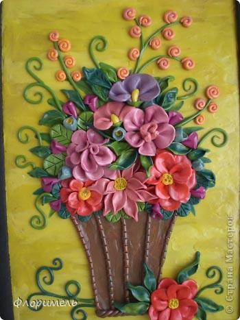 Цветы из пластилина. фото 1