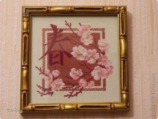 Это веточка сакуры. Очень люблю сакуру. а вот что иероглиф обозначает, не знаю. фото 1