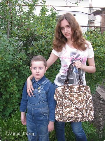 Вот такая сумка у нас получилась благодаря презенту от Голубки! фото 12