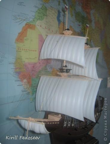 Всем добрый день!  Буквально вначале весны начал заниматься судомоделированием. Сегодня представляю вам первую модель корабля «Орёл»  фото 6