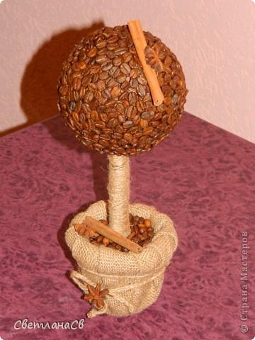 Высота изделия около 30см, крона 11см, зерна проклеены в два шара.
