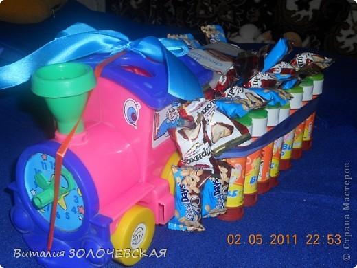 Из старой игрушки мыльных пузырей и конфеток получился сюрприз деткам в садик)))))))))) фото 1