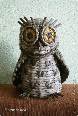 Что только не символизирует сова! Но мы выбираем самое нужное и плетём сову-шкатулку. фото 14