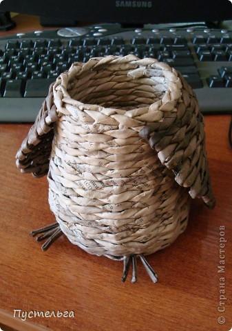 Что только не символизирует сова! Но мы выбираем самое нужное и плетём сову-шкатулку. фото 4