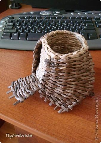 Что только не символизирует сова! Но мы выбираем самое нужное и плетём сову-шкатулку. фото 5